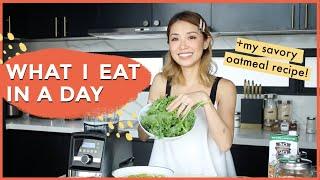 What I Eat in a Day + Savory Oatmeal Recipe!  Kryz Uy