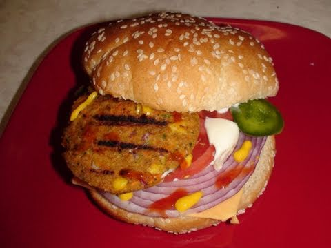 Veggie Burger Video Recipe For Vegetarians By Bhavna