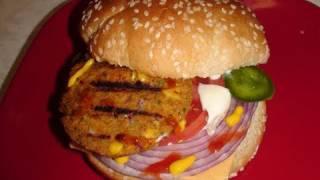 Veggie Burger Video Recipe For Vegetarians By Bhavna