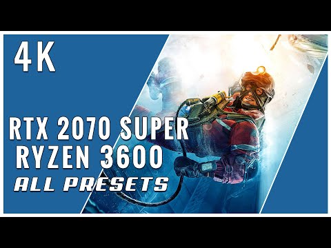 Rainbow Six Siege - 4K - RTX 2070 Super / Ryzen 3600 / 16 GB RAM -  Ultra,Very High, High,Medium,Low
