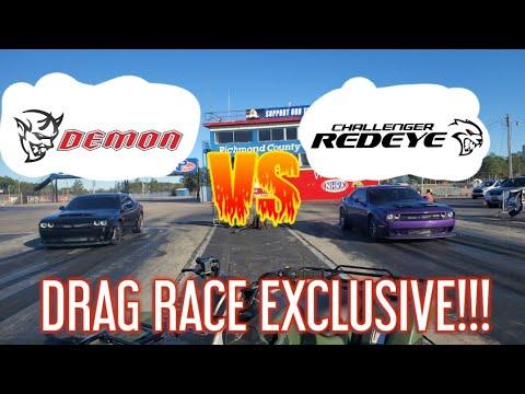 DODGE DEMON vs HELLCAT REDEYE and 2020 GT500 DRAG RACE ...