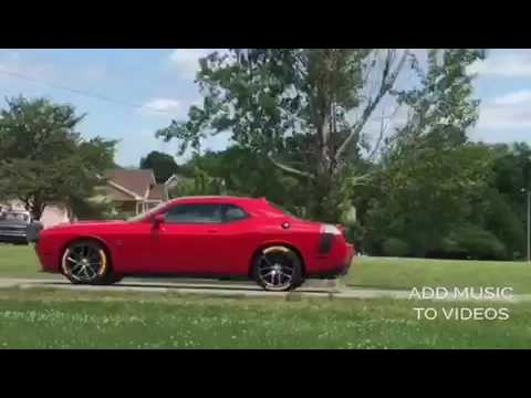 Raised White Letter Tires Dodge Challenger >> Challenger scat pack with yellow letter tires - YouTube