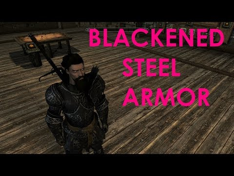 Skyrim Special Edition Mod Review Blackened Steel Armor And Weapon Set