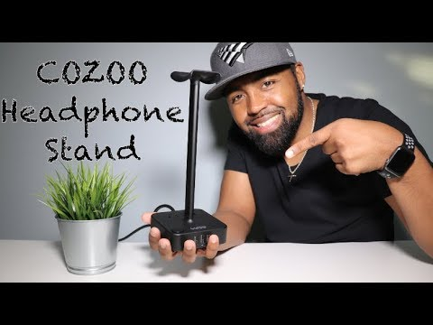 All in one design, Universal headphone stand from COZOO