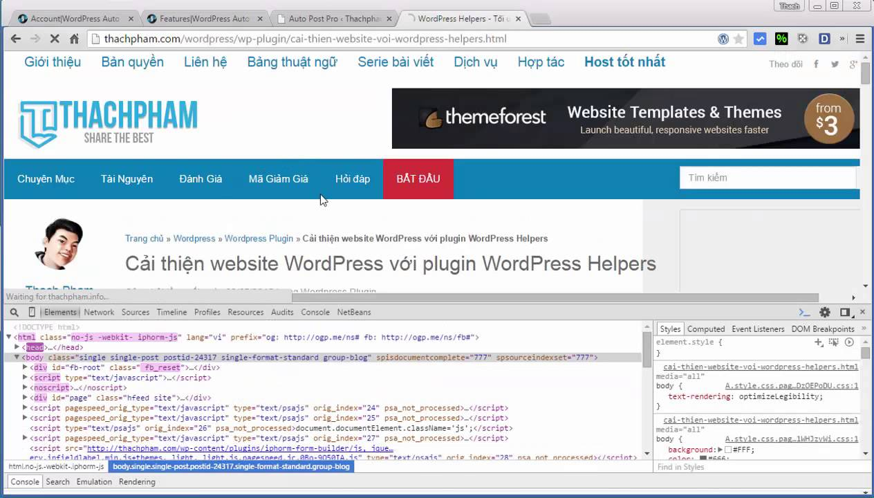 Lấy bài từ web khác vào WordPress tự động không cần RSS.
