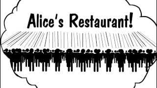 Alice's Restaurant Massacre Illustrated(Discuss the importance of this great Arlo Guthrie tune on the generation and enjoy. I've re-touched the original drawings, combined both parts, and made the ..., 2012-04-19T23:30:54.000Z)