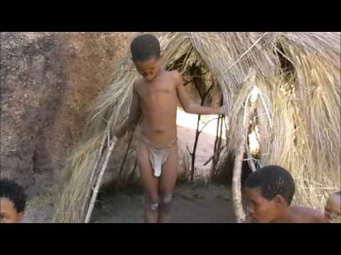 The San people (Bushmen) filmed in Namibia