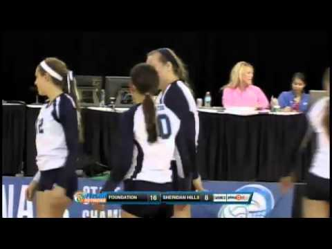 2012 FHSAA 2A Girls Volleyball Semifinal #2- Foundation Academy vs Sheridan Hills Christian