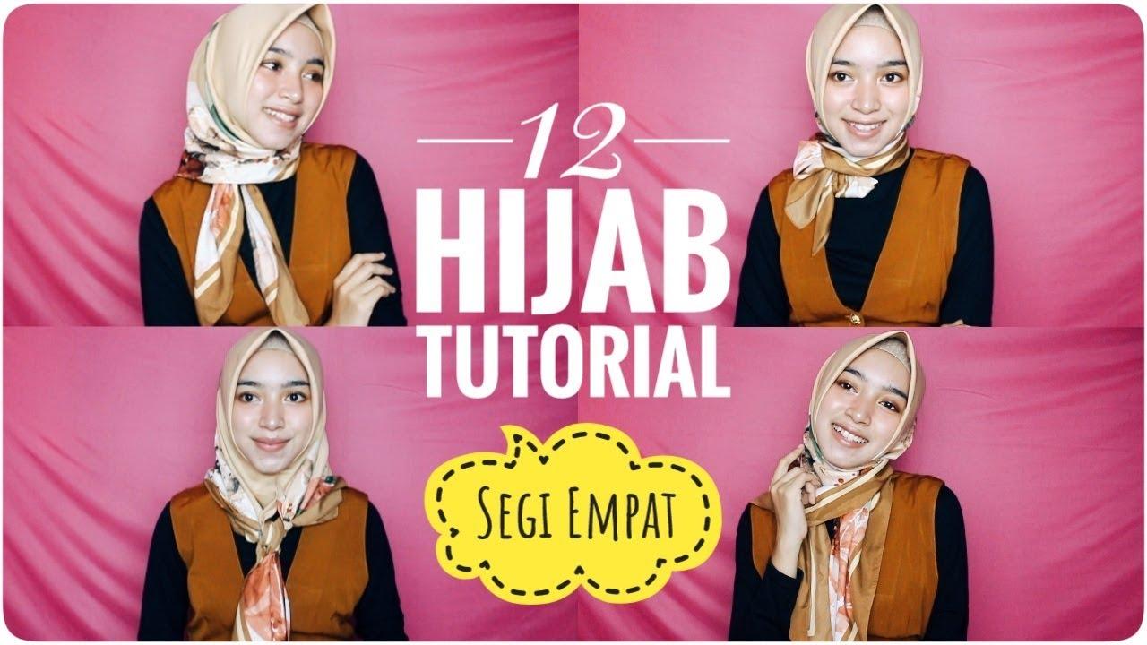 Tutorial Hijab Segi Empat Pergi Ke Kantor Simpel Stylish Look Youtube