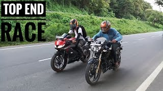 Yamaha R15 V3 VS Apache 200 | RACE | TOP END | Highway Battle