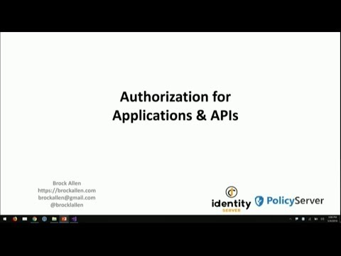 Implementing authorization in web applications and APIs - Brock Allen