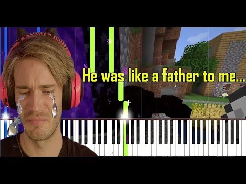You're Not Here - Damon Greene (Pewdiepie's Sad Minecraft Music) [Synthesia Piano Tutorial] thumbnail