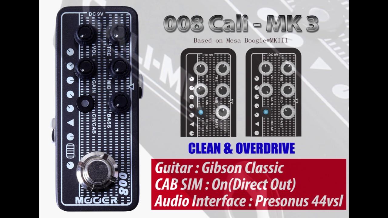 Mooer Micro Preamp 008cali Mk 3 Youtube Band 2 Preamplifier