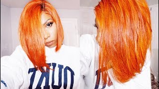 PUMPKIN SPICE/AUTUMN LEAVES PERFECT FALL COLOR! HOW TO DYE YOUR HAIR THIS FIRE COLOR USING WATER