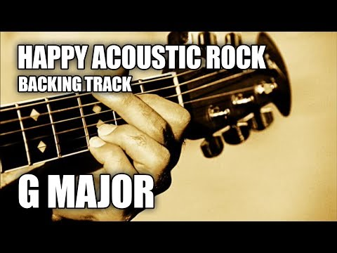 happy acoustic rock guitar backing track in g major e minor youtube. Black Bedroom Furniture Sets. Home Design Ideas