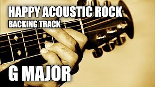Happy Acoustic Rock Guitar Backing Track In G Major / E Minor