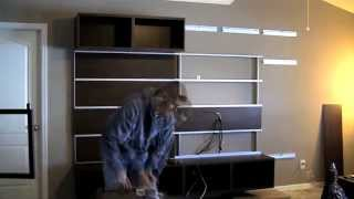 Ikea Besta/framsta - Wall Mount Entertainment Center Assembly Part 4