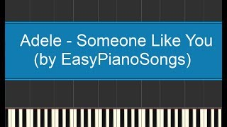 Adele - Someone Like You - Piano cover Synthesia + DOWNLOAD MIDI e SPARTITO