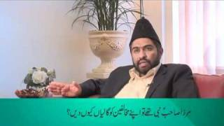 Why did Hadhrat Mirza Ghulam Ahmad of Qadian use abusive language against his opponents?