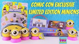 Limited Edition Minions Mineez Comic Con Exclusive Balthazar Bratt Palooza Toy Review | PSToyReviews