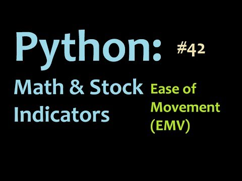 Python Finance and Math Tutorials: Graphing the Ease of Movement in Matplotlib