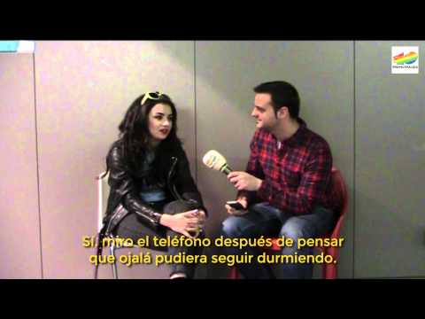 Charli XCX, antes de su concierto en Barcelona