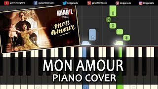 Mon Amour Kaabil|Hindi Song|Piano Chords Tutorial Lesson Instrumental Karaoke By Ganesh Kini