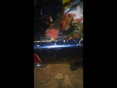 Full video of Ghanaian Singer Ebony Reign Car Accident