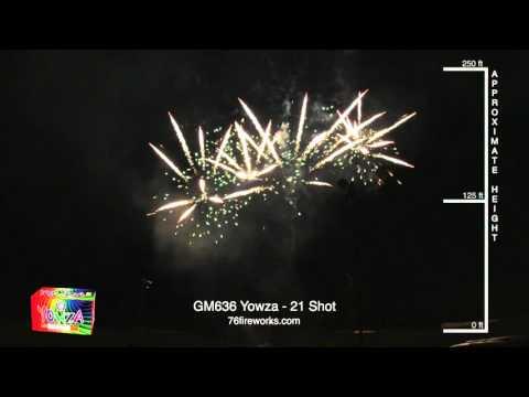 Yowza - 21 Shot Fireworks