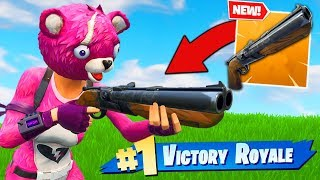 *NEW* LEGENDARY DOUBLE BARREL SHOTGUN GAMEPLAY In Fortnite Battle Royale!