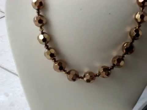 ANTIQUE GOLD  16MM BALL NECKLACE