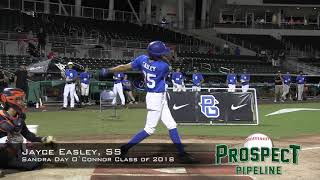 Jayce Easley prospect video, SS, Sandra Day O`Connor High School Class of 2018