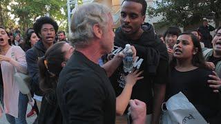 65 year old man vs. Anti Trump/ Milo Protesters UC Irvine