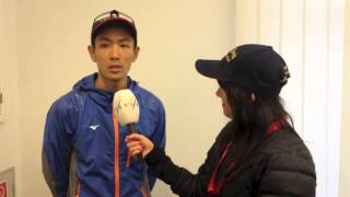 Akito Watabe on his SGP win in Oberwiesenthal