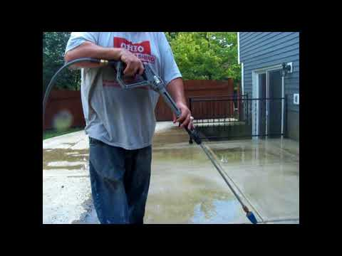 Pressure Washing/Cleaning Concrete (Real Time, No Music, Unedited Footage)