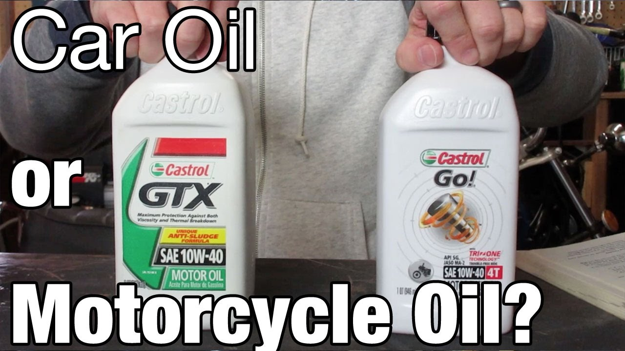 Car Oil Or Motorcycle Oil Youtube