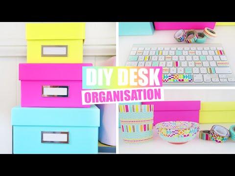 Back to school desk organisation diy school supplies for Diy desk stuff