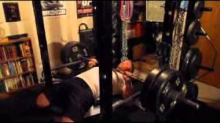 625 Pound Squat PR (no belt, wraps), 395 2-Board Press, 230 Pound Bench x 25 Reps