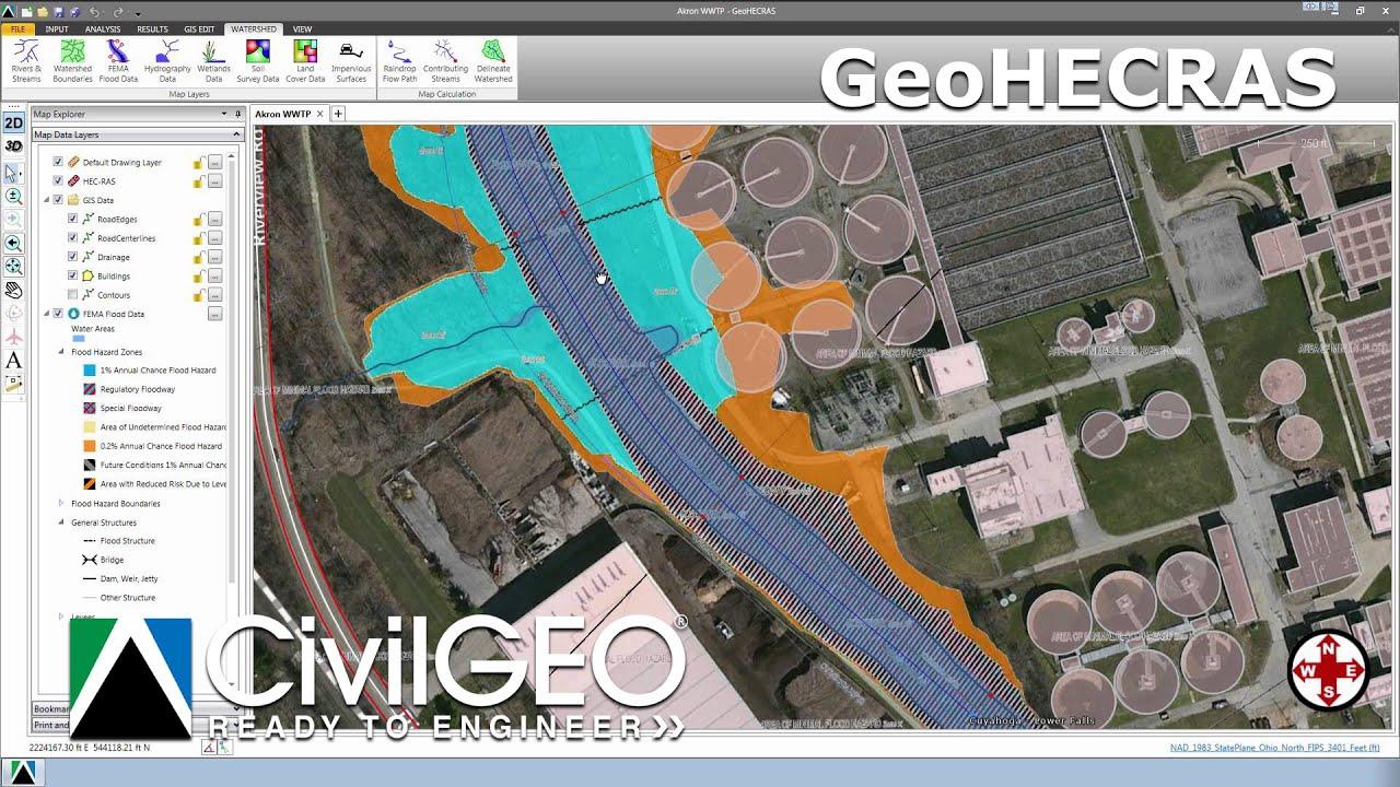 2D Flow Modeling Using HEC-RAS 5.0 - YouTube