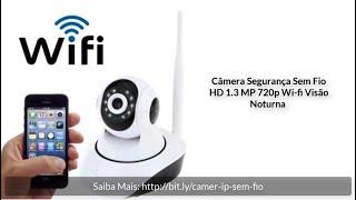 Câmera IP Sem Fio Wi Fi HD 720 Visão Noturna