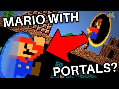 What If Mario Had The Portal Gun In Super Mario Bros?