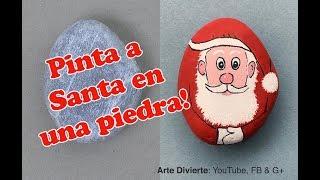 Cómo Pintar a Santa Claus sobre una piedra - Narrado