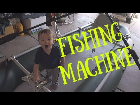 Fishing Machine!! Fishing Raft Walkthrough And Frame Set-up.