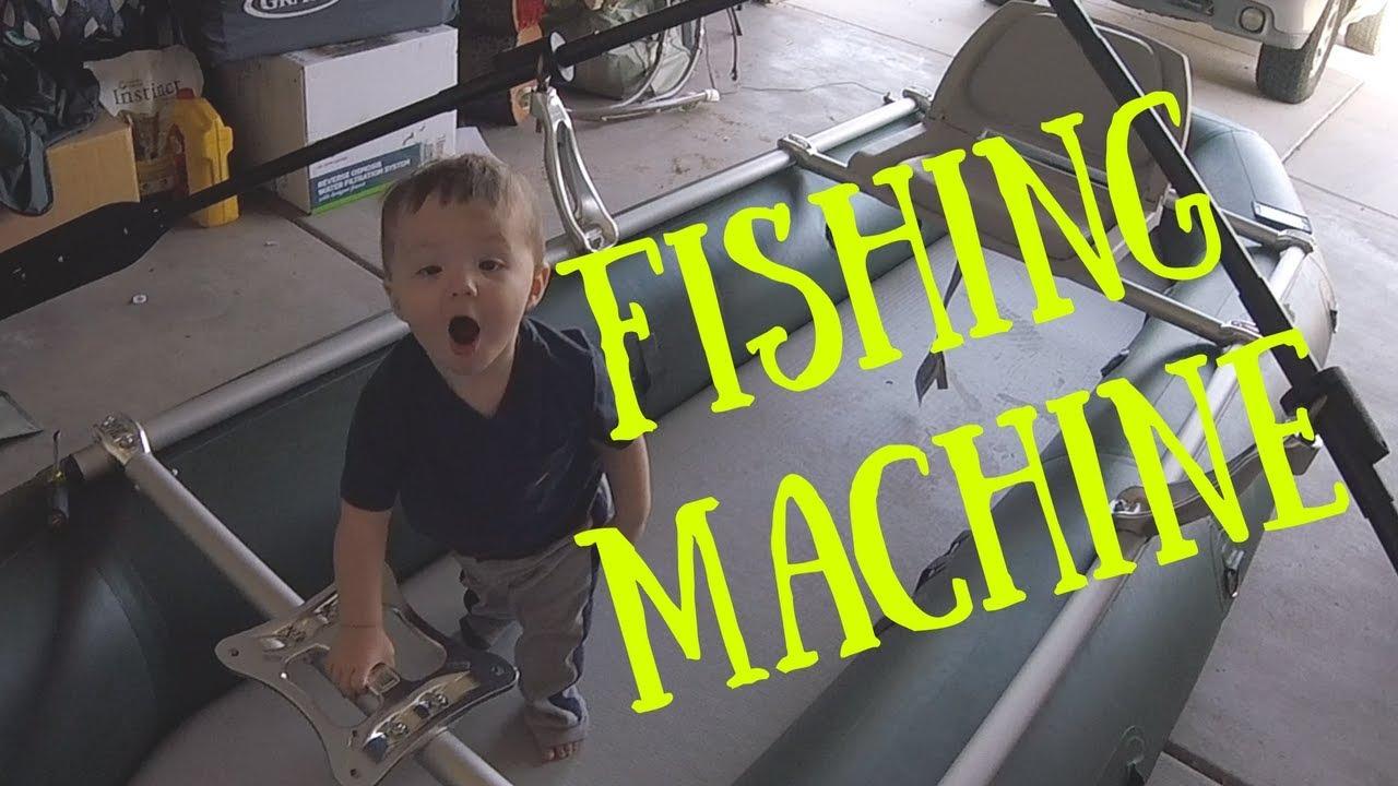 Fishing Machine!! Fishing raft walkthrough and frame set-up
