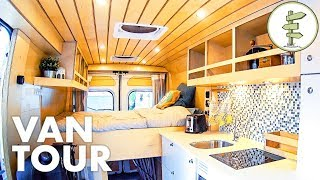 super smart camper van design with lots of great ideas full tour