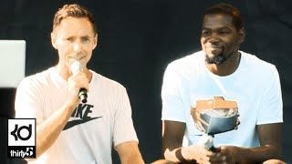 Kevin Durant & Steve Nash Q&A At Nike Campus