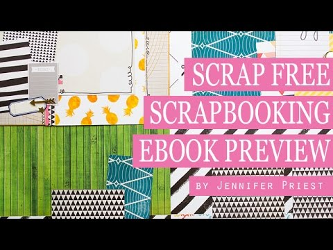 4 Scrapbook Pages From 6 Sheets Of Paper Scrap Free Scrapbooking