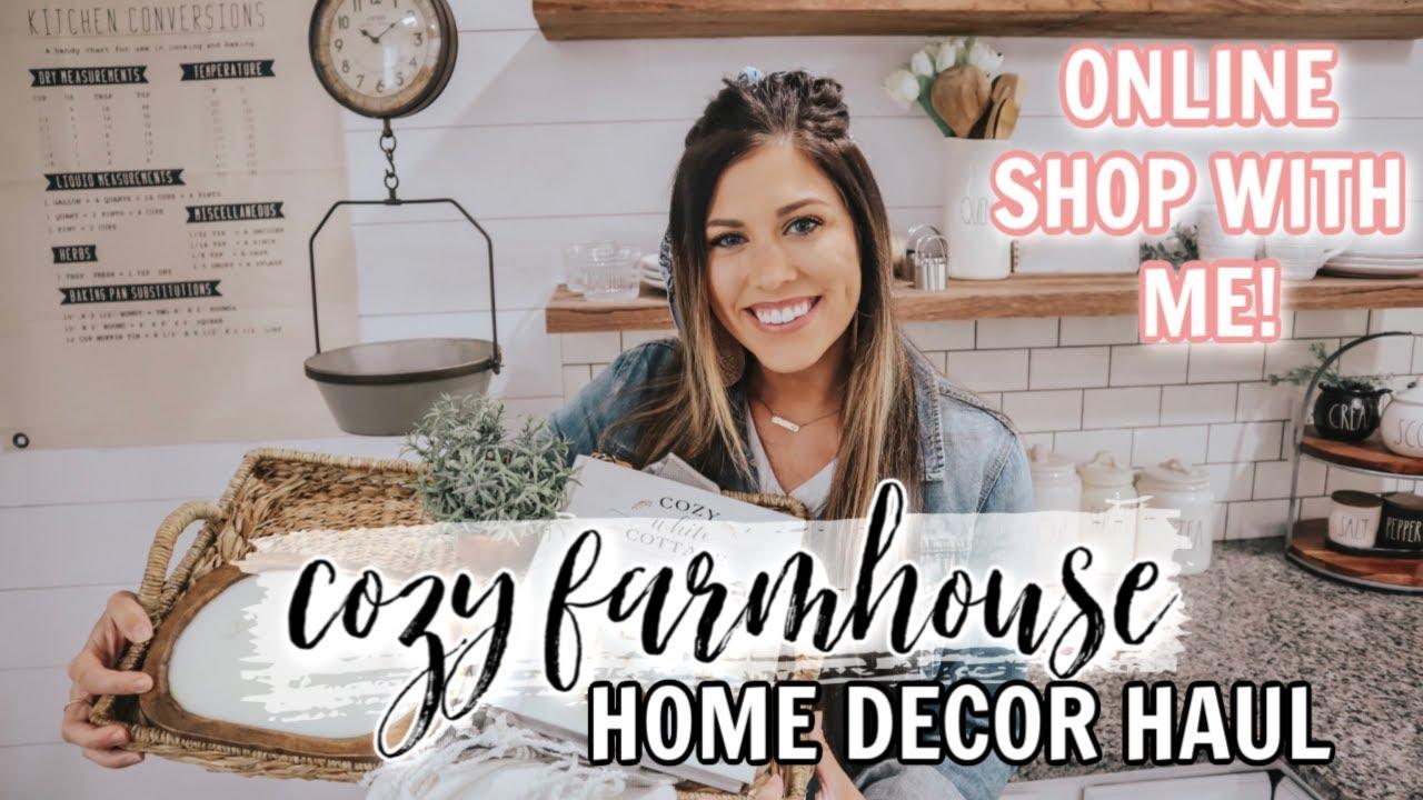 Farmhouse Decor Haul Cozy Cottage Home Decorating Decorate Withme 2020 Youtube
