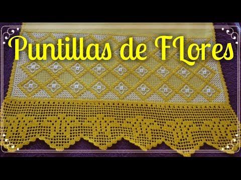 PUNTILLA DE FLORES PARA SERVILLETAS PUNTILLAS DE FLORES A CROCHET #16