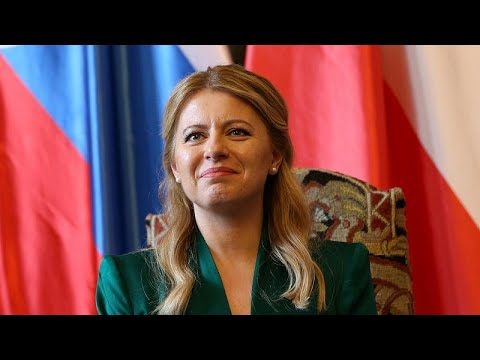 Slovakia's first woman president asked about outfit changes in press conference